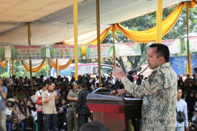 Gubernur Lampung Muhammad Ridho Ficardo saat melakkan kunjungan kerja ke Kabupaten Tanggamus, Kamis 08 Februari 2018.
