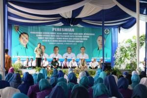 Gubernur Lampung Muhammad Ridho Ficardo pada acara peresmian tiga gedung baru di Rumah Sakit Umum Daerah Abdul Moeloek (RSUDAM), Kamis 8 Februari 2018.