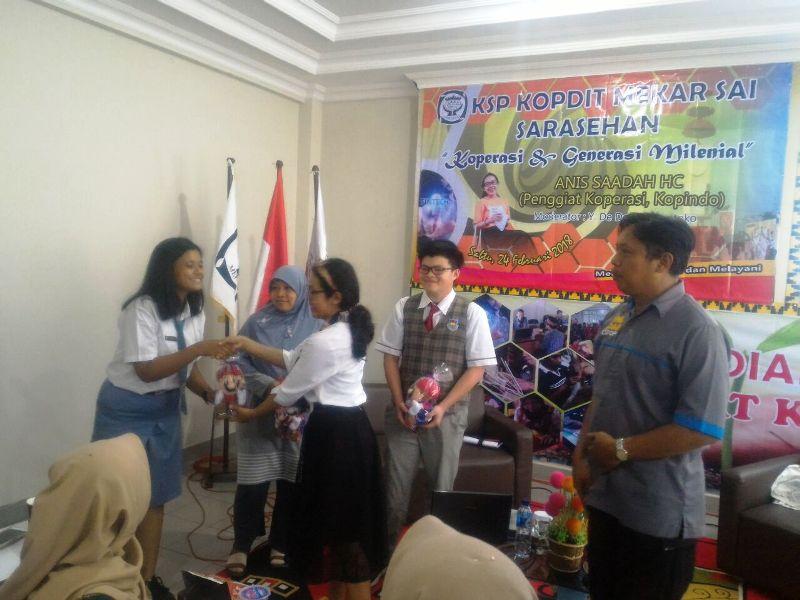 KSP Kopdit Mekar Sai gelar Sarasehan bertemakan 'Koperasi dan Generasi Milineal' dilaksanakan pada Sabtu 24 Februari 2018 pukul 09.30 – 12.00 WIB di Kantor Mekar Sai, Pahoman, Bandar Lampung.