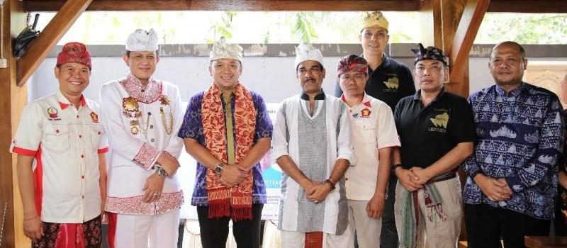 Gubernur Lampung (non-aktif) Muhammad Ridho Ficardo bersama DPP GEMA SADHANA.