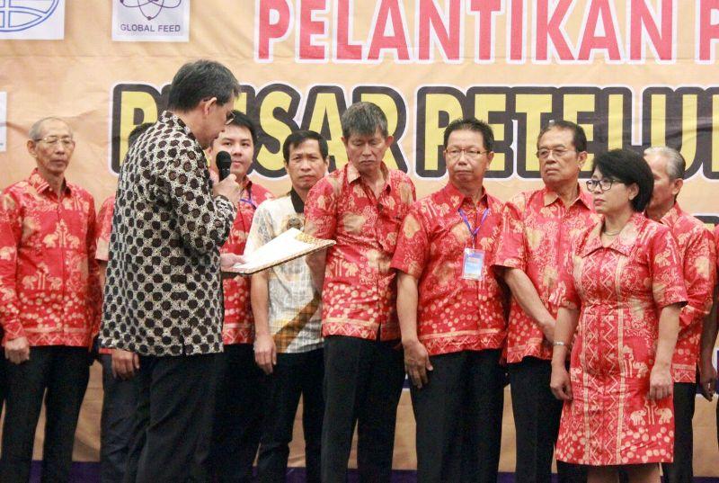 Pelantikan Pinsar Petelur Nasional (PPN) Wilayah Lampung Tahun 2018-2023 di Hotel Emersia, Rabu 14 Maret 2018.