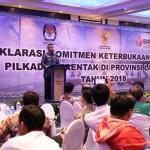 Pemprov Lampung Apresiasi Terselenggaranya Deklarasi Keterbukaan Informasi Pilkada 2018