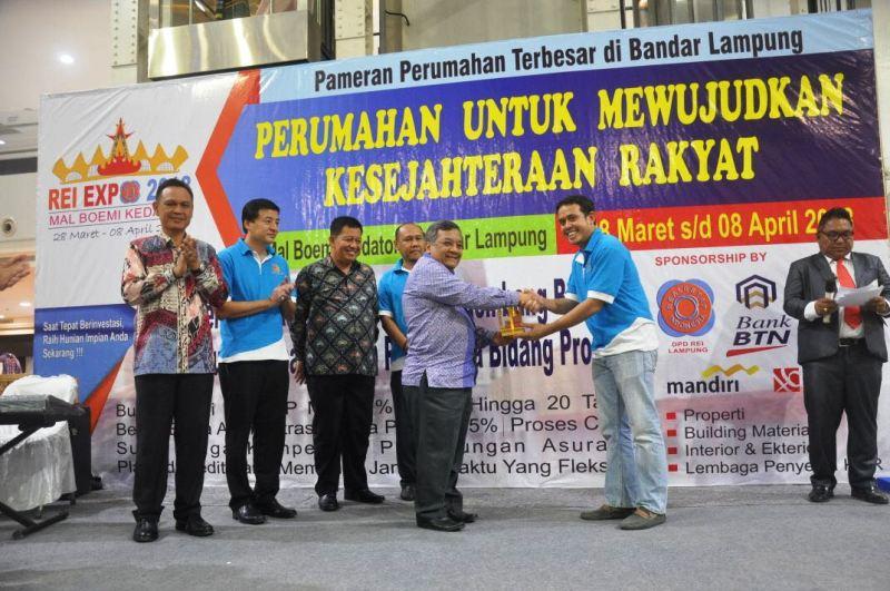 Pembukaan Real Estate Indonesia (REI) Expo 2018 di Atrium Mal Boemi Kedaton Lampung.