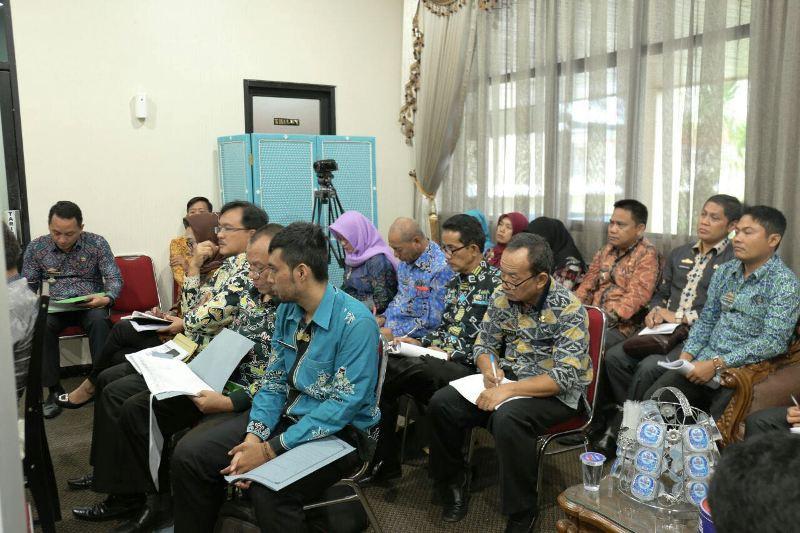Rapat Persiapan Penyelenggaraan FKD-MPU ke XVIII tahun 2018, di Ruang Rapat Sekdaprov, Kantor Gubernur Lampung, Kamis 22 Maret 2018.