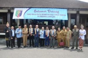 """Lima Duta Besar Negara Timur Tengah untuk Indonesia mengunjungi Provinsi Lampung dalam rangka """"Familiarization Trip for Ambassadors of Middle East Countries Promoting Cooperation in The Field of Trade, Tourism, and Invesment."""""""