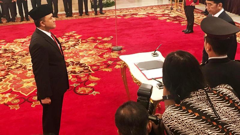 Jokowi Resmi Lantik Irjen Heru Winarko Sebagai Kepala BNN (Liputan6.com/Hanz Jimenez Salim)