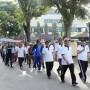 Jalan sehat dalam rangka Hari Ulang Tahun Provinsi Lampung ke-54 Tahun 2018, Jumat pagi, 16 Maret 2018.