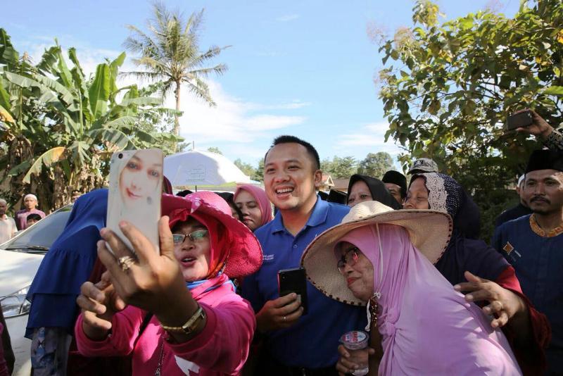 Muhammad Ridho Ficardo bersama desa Sukadamai, Kecamatan Natar.