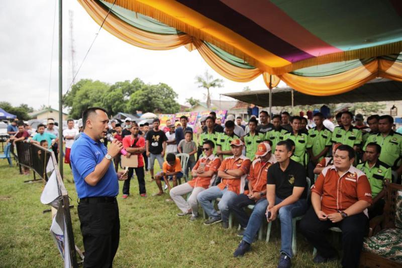 Muhammad Ridho Ficardo di lapangan Sekampung, Lampung Timur, Minggu 25 Maret 2018.