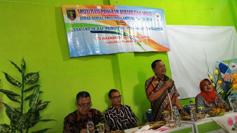 Kepala Dinas Sosial Provinsi Lampung; Sumarju Saeni.