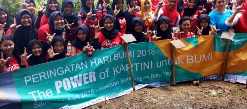 "kegiatan ""The POWER of Kartini untuk Bumi"", Minggu 22 April 2018."