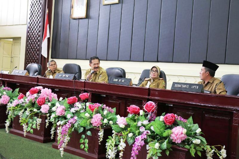 Rapat persiapan Musabaqah Tilawatil Qur'an (MTQ) Tingkat Provinsi ke 46 Tahun 2018.