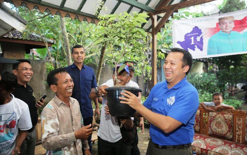 Calon Gubernur Lampung M Ridho Ficardo, saat melakukan kunjungan ke Kabupaten Lampung Timur, Kamis 26 April 2018.