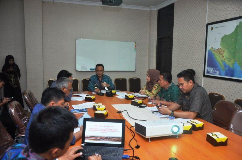 Rapat optimalisasi dan percepatan TPB/SDGs Provinsi Lampung, yang dilaksanakan di Ruang Rapat Bappeda Provinsi Lampung, Jumat 20 April 2018.