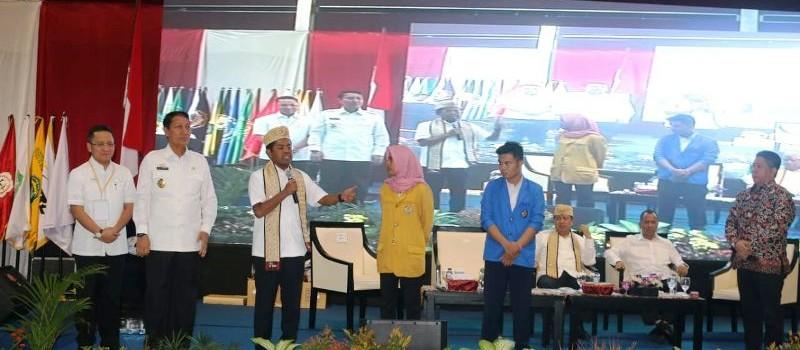 Dialog yang diadakan di Convention Hall Mahligai Agung Kampus Pascasarjana Universitas Bandar Lampung (UBL), Bandar Lampung, Senin 14 Mei 2018.