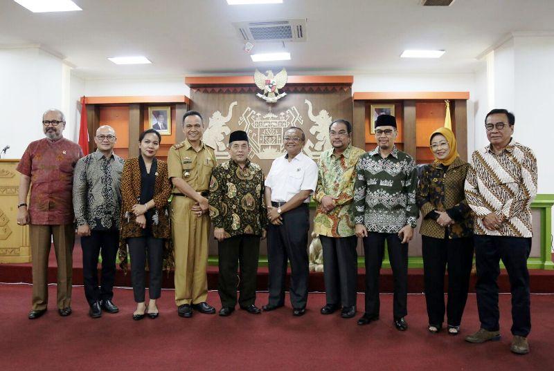 Kunjungan Komite IV DPD RI di Provinsi Lampung Senin,  14 05 2018.