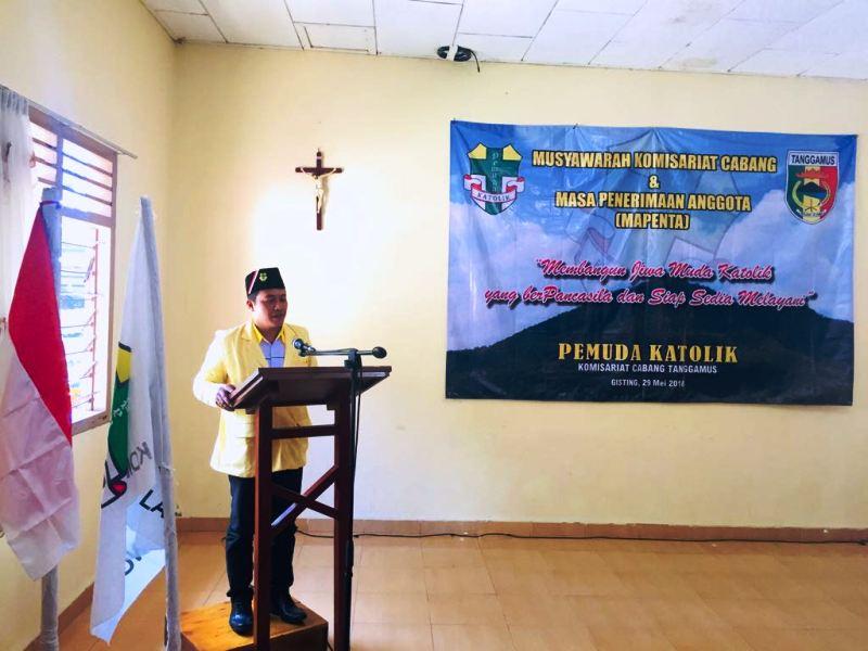 – Ketua Pemuda Katolik Komisariat Daerah (Komda) Lampung Marcus Budi Santoso.