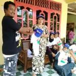 Relawan Garuda Tulangbawang Barat Semangat Sosialisasikan Ridho Ficardo-Bachtiar Basri
