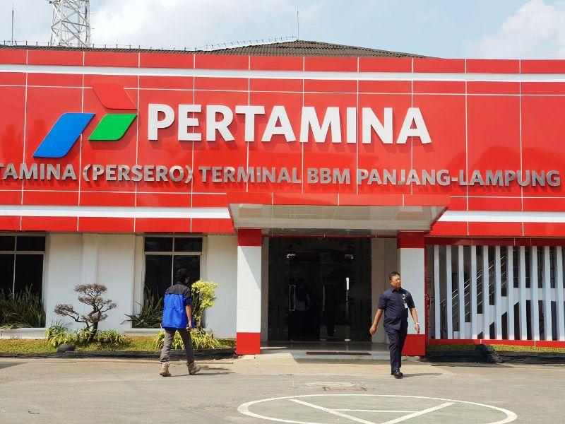 Kantor PT Pertamina (Persero) Lampung. Foto : Robert