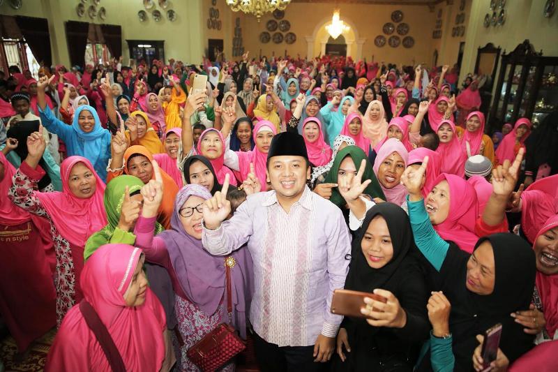 Muhammad Ridho Ficardo kembali melakukan silaturahmi dan buka puasa bersama masyarakat Bandar Lampung, Jumat 25 Mei 2018 sore.
