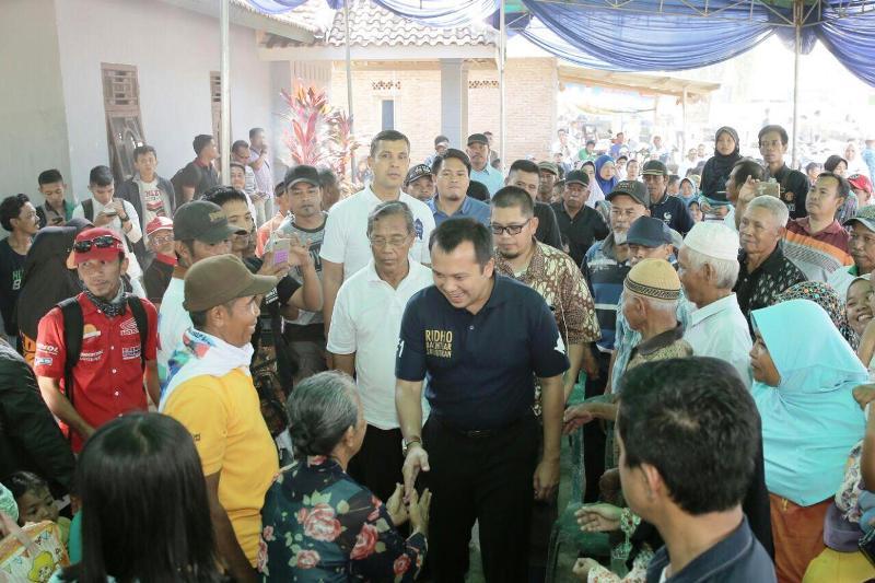 Calon Gubernur Lampung M Ridho Ficardo di Dusun 6, Desa Banjar Rejo, Kecamatan Batang Hari.