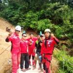 Relawan Kembali Bangun Jembatan Gantung Darurat Sederhana Ke-11