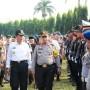 Inspektur Upacara pada Apel Gelar Pasukan Operasi Ketupat Krakatau 2018.