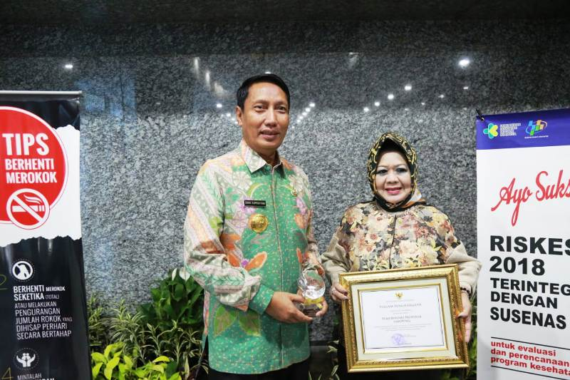 Pjs. Gubernur Lampung Didik Suprayitno bersama Kepala Dinas Kesetahan Provinsi Lampung Reihana.