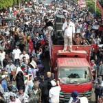 Ribuan Massa Koalisi Rakyat Lampung Aksi di Depan Kantor Gakkumdu, Minta Arinal-Chusnunia Didiskualifikasi
