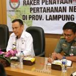 Raker Pemprov Lampung dan Kemenhan Bahas Rencana Wilayah Pertahanan