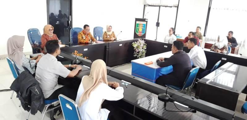 pelaksanaan tes tertulis dan wawancara satuan bakti pekerja sosial (sakti peksos), Selasa 31 Juli 2018 di Kantor Dinsos Lampung.