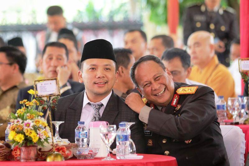 Gubernur Lampung Muhammad Ridho Ficardo bersama Kapolda Lampung Irjen Pol Suntana.