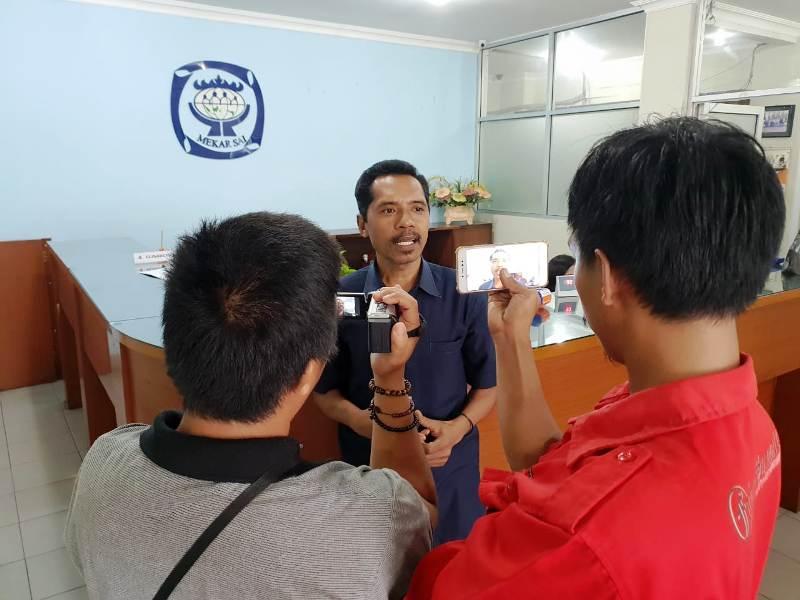 Ketua Dewan Pengurus KSP Kopdit Mekar Sai, Andreas Muhi Pukai saat diwawancarai awak media beberapa waktu lalu.
