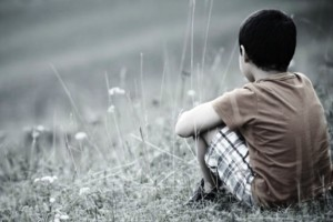 Ilustrasi anak depresi/murung. Shutterstock.com