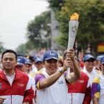 Gubernur Lampung M.Ridho Ficardo Terima Api Obor Asian Games 2018