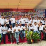 Jalan Sehat Paroki Ratu Damai Teluk Betung Pererat Kerukuan Antar Umat Beragama di Lampung