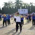 Ratusan ASN Pemerintah Provinsi Lampung Ikuti Senam Poco Poco