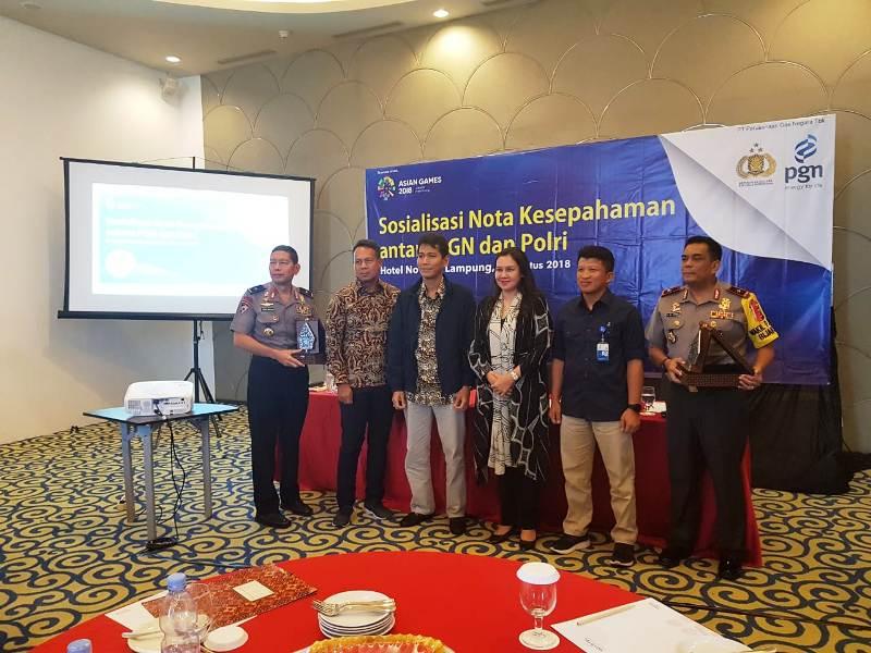 Sosialisasi kerjasama pengamanan obvitnas di Hotel Novotel Lampung, Kamis 02 Agustus 2018.