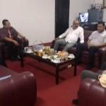 Kepala Dinas Sosial Provinsi Lampung Menerima Kunjungan Tenaga Ahli Penanganan Fakirmiskin Kemensos