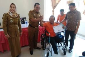 Penutupan pelatian ketrampilan praktis bagi disabilitas di Balai Latihan Kerja (BLK) Bandar Lampung.