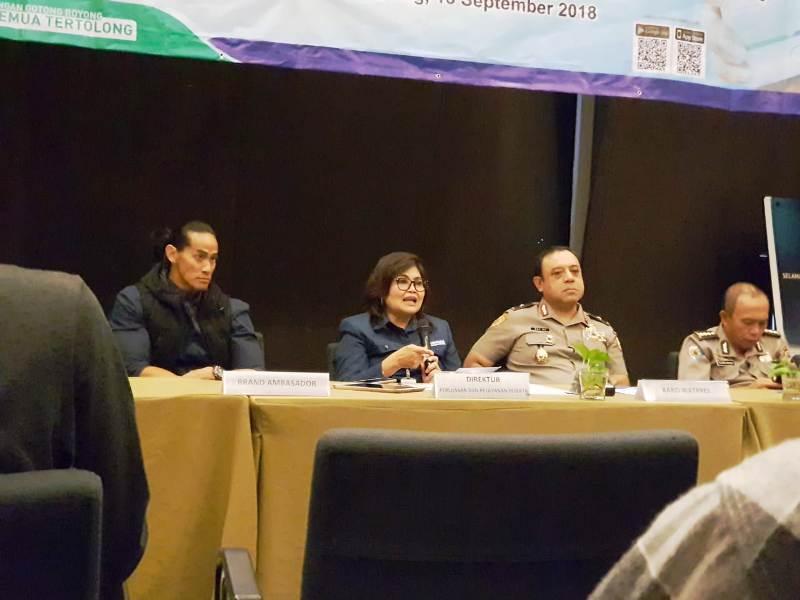 Direktur Perluasan dan Pelayanan Peserta BPJS Kesehatan Andayani Budi Lestari (dua dari kiri). Foto : Robert