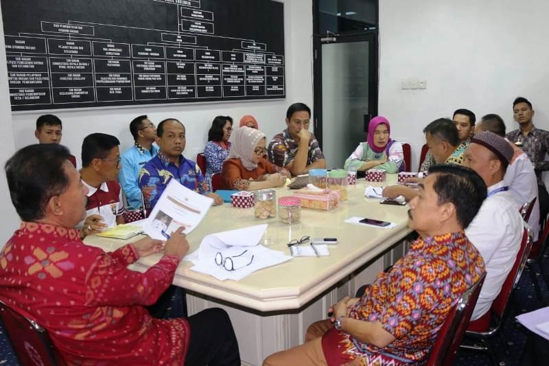 Rapat koordinasi persiapan penyambutan bersama seluruh OPD terkait di Lingkungan Pemerintah Provinsi Lampung, pada Jum'at (21/9/2018).