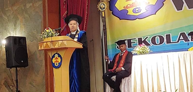 Ketua STIE Gentiaras Bandar Lampung Suster M. Francis LS, S.E.,M.M.,M.S.Ak, FSGM., (Foto : RD Roy)