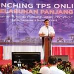 Sekdaprov Hamartoni Dampingi Menko Luhut Panjaitan Launching TPS Online