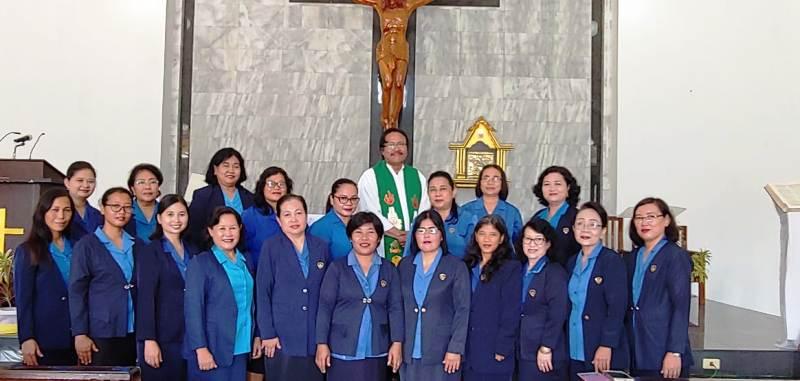 RD Philipus Suroyo bersama Pengurus Wanita Katolik Republik Indonesia DPD Panjang masa bakti 2018-2021.