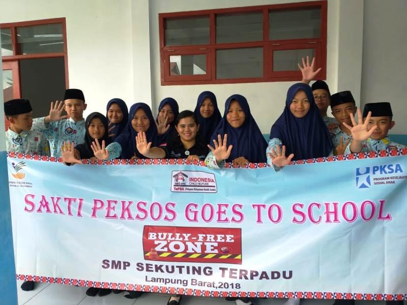 Dinas Sosial Provinsi Lampung Inisiasi Program Sakti Peksos Goes to School.