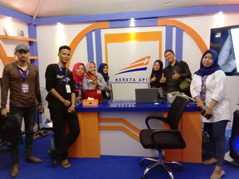 Stand Kereta Api pada kegiatan Lampung Fair 2018.