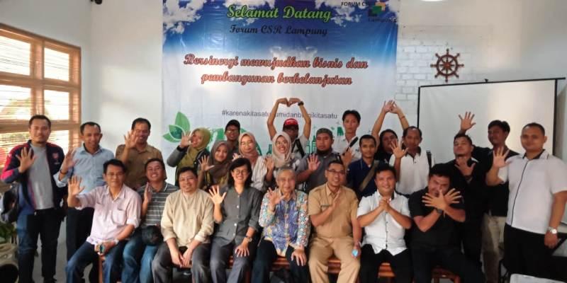 Forum Discussion Group (FGD) dengan tema 'Peran Media untuk Mendukung Perwujudan Pembangunan Berkelanjutan' dalam rangka Jelang Lampung Sustainability Award (LSA) 2018 yang berlangsung di Sekretariat Bersama FCL Jl. Tirtayasa No. 200, Sukabumi, Bandar Lampung.