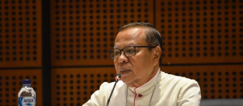 Mgr Ignatius Suharyo Pr, terpilih sebagai Ketua Konferensi Waligereja Indonesia periode 2018-2021. Foto : Dokpen KWI