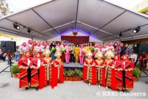 Kesenian Lampung Dipentaskan pada Gelaran Kebudayaan KBRI Canberra.